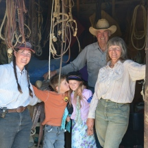 The Stoneburg family, three generations pictured here on a sixth generation cattle ranch in the Larbe Hills. Their family homesteaded here in the early 1900's and they've been working the land ever since.
