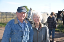 Ron and Twila. two wonderful people who let us keep our horses at their corrals and helped us navigate the bustling metropolis of Boradus, MT. The Keystone XL pipeline goes right through their property.